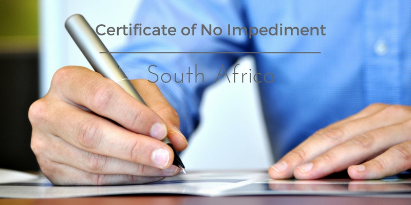 Certificate of No Impediment