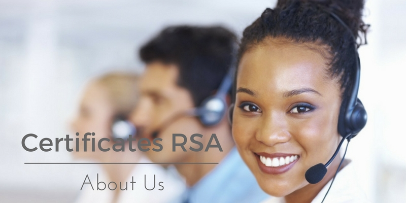 Certificates RSA about us