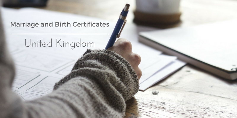 Marriage certificate UK birth certificate UK