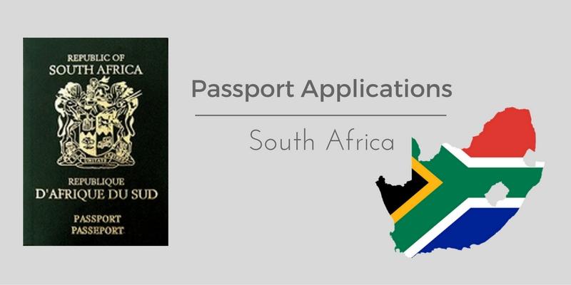 South African passport application