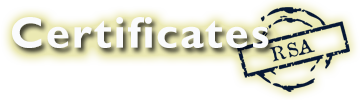 Certificates RSA Logo South african document services