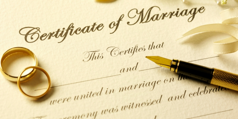 marriage certificate south africa